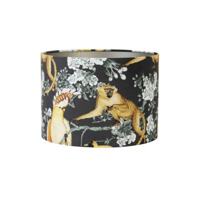 Lamp Shade Print Velvet Fabric