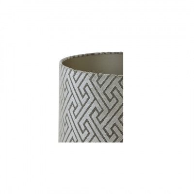 Lamp Shade Olive-Grey Embossed Fabric