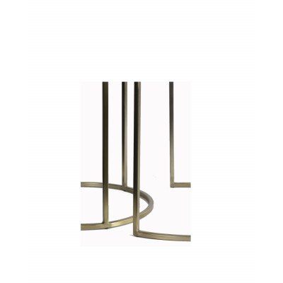 Set 2 Metal Side Tables