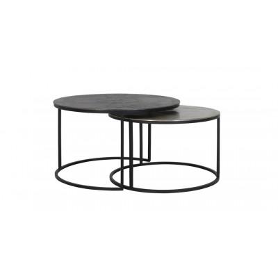 Round Set 2 Metal Coffee Tables
