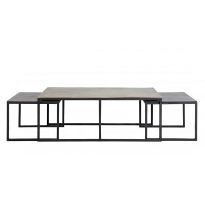 Set 3 Metal Coffee Tables
